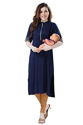 AV2 Women's Rayon Regular Maternity Feeding Kurti
