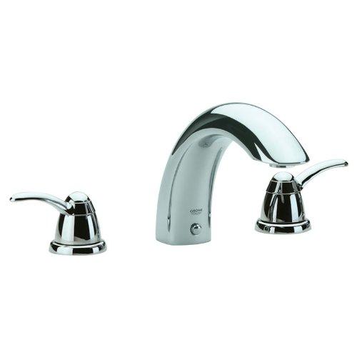 Grohe Talia Roman Tub Faucet - Grohe K25596-18077-000 Talia Roman Tub Filler Deck Mount Kit, Chrome