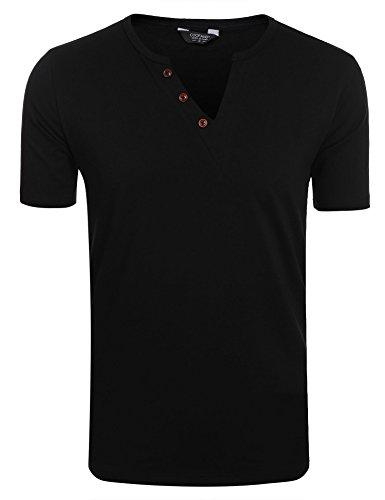 V-Neck Button Shirt - 7