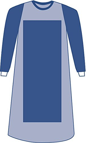 Medline DYNJP2207 Sterile Poly-Reinforced Eclipse Gown with Breathable Impervious Sleeve, Large, Blue (Pack of 30)