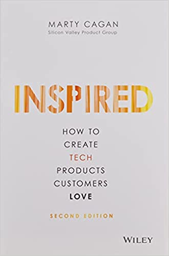 Image of the book Inspired which speaks about the product design process.
