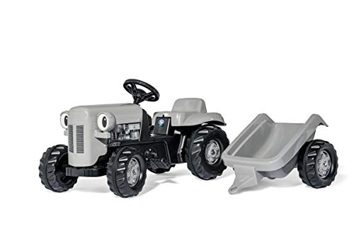 KETTLER Little Grey Fergie Pedal Tractor with Detachable Trailer ()
