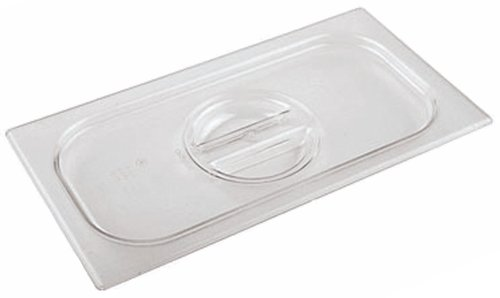 e 7 inches by 4 3/8 inches Polycarbonate Hotel Food Pan Lid - 1/9 (depth: 2 1/2 inches) ()
