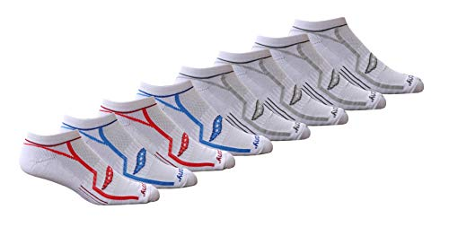 (Saucony Men's Performance Comfort Fit No-Show Socks, White Assorted, 8-pack large 10-13 Sock/6-12 Shoe)