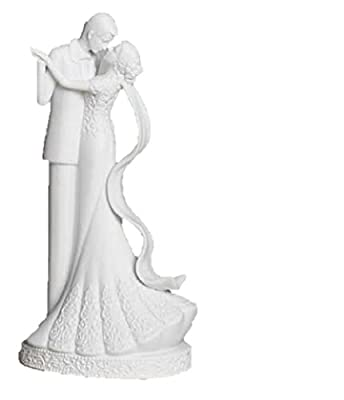 "8"" Porcelain Bride & Groom Wedding Dance ""To Have and To Hold"" Cake Topper by Roman Inc"