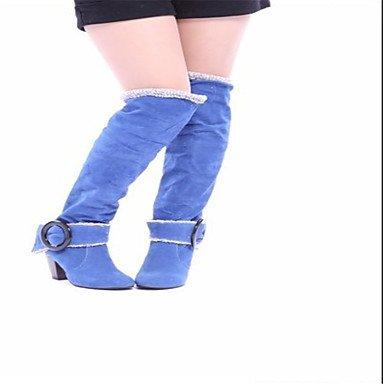 Botas de Mujer Otoño Invierno Comfort polipiel vestir casual tacón cono hebilla caminando Gray