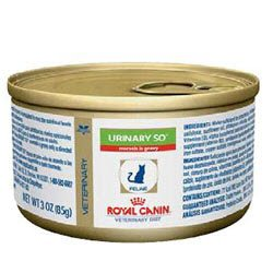 Royal Canin Veterinary Diet Feline Urinary SO Morsels in Gravy Canned Cat Food 24/3 oz Cans, My Pet Supplies