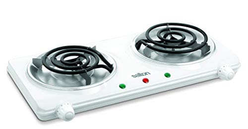 Salton THP-433 Electric Double-Coil Cooking Range, White