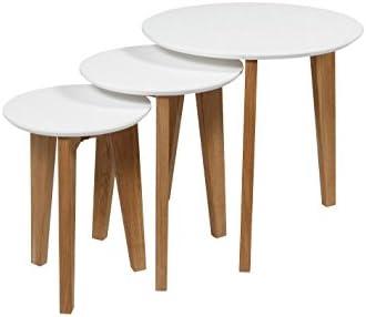 Snelle Express AC Design Furniture set met tafels Ricky, B: 50 x D: 50 x H: 50 cm, MDF, wit  yky9GUM
