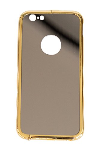 Komplettschutz mit Aluminium Case für Apple iPhone 6 / 6s mit Schutz für Akkudeckel und Panzerglas 9H Displayschutz (4.7 Zoll), Gold - itronik®