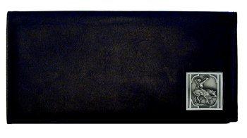 Executive Leather Checkbook Cover - Native American on Horse - Executive Checkbook Cover Leather Accessories
