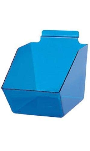 "Buy All Store 10 Slatwall Bins Dump Acrylic Clear Blue 7 ½ X 6 X 5 ½"" Plastic Retail Display -  buyallstore"