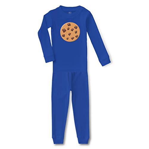 Chocolate Chip Cookie 2 Cotton Crewneck Boys-Girls Infant Long Sleeve Sleepwear Pajama 2 Pcs Set Top and Pant - Royal Blue, 5/6T ()