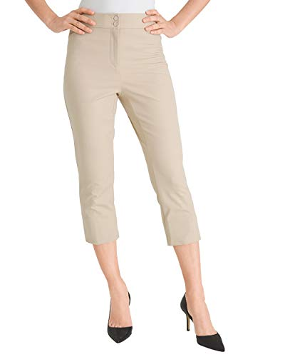 Chico's Women's Secret Stretch Straight-Leg Crops Size 10 M (1.5) Tan
