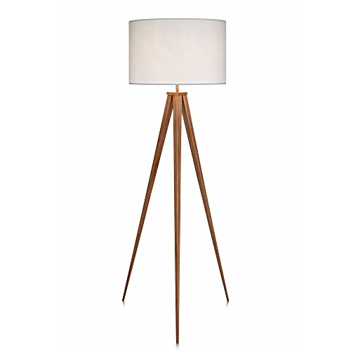 Versanora VN-L00007 Romanza Tripod Metal Legs LED Floor Lamp, White Diameter Circle Track Lighting