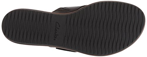 Women's Kele Heather Sandals Black Clarks Flat Leather 6Ov0nvzW