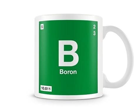 Amazon Periodic Table Of Elements 05 B Boron Symbol Mug Home