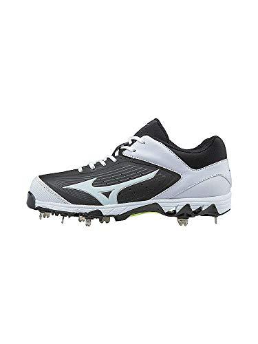 Mizuno Women's Swift 5 Fastpitch Cleat Softball Shoe, Black/White, 8.5 B US