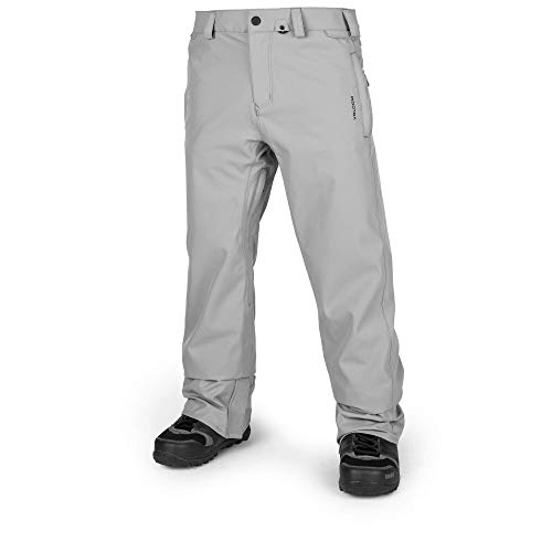 Volcom Men's Freakin Relaxad Fit Chino Style Snow Pant, Charcoal, Large