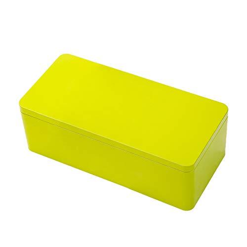 Tianhui Classic Box Rectangular Green Empty Tin Box Containers, Gift, Jewelry and Storage Tin Kit, Home Organizer (Green, S)