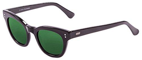 Ocean Sunglasses Santa Cruz Lunettes de Soleil Mixte Adulte, Matte Black/Revo Green Lens