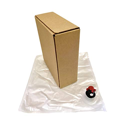 5L Wine Bag-In-Box Kit - 4-Pack [Eco-Friendly Wine Bottle Alternative] - Easily Bottle, Dispense & Store Your Wines - Perfect For Home Winemakers (4 x 5 Liter Bag in Box Kit)