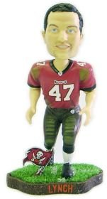 Forever Collectibles NFL Tampa Bay Buccaneers Mens Tampa Bay Buccaneers John Lynch Game Worn Bobblehead, Team Colors One Size