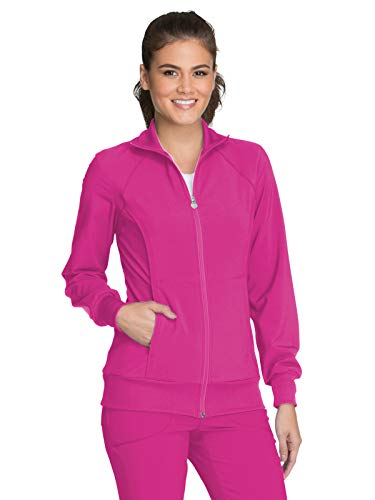 Cherokee Infinity 2391A Zip Front Warm-Up Jacket Carmine Pink 3XL -