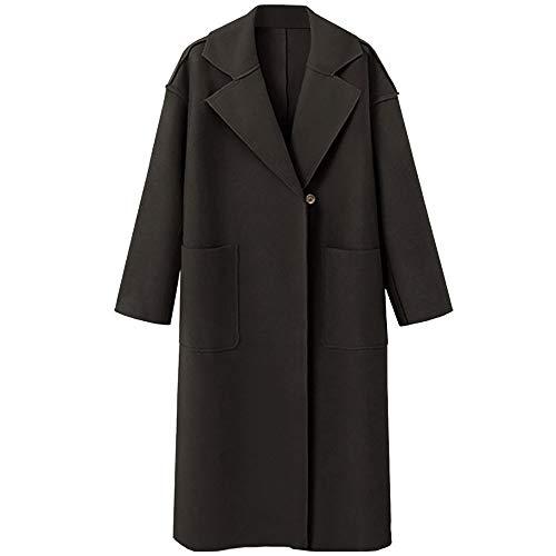 Ghazzi Women Coats Winter Oversize Cashmere Cardigan Coat Overcoat Long Jacket Parka Outerwear Trench