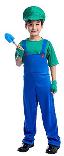 ugoccam Kids Little Gardender Farmer Halloween Bib Pants Costume Boys -