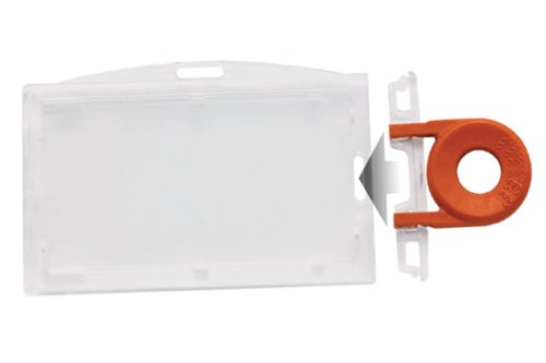 Clear Horizontal Locking Plastic Card Holder by Specialist IDUniversal Key Sold Separately)