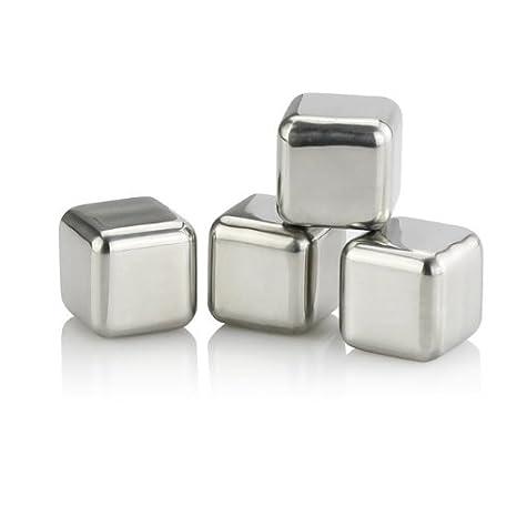 Amazon.com: SainStyle – Juego de 4 cubos de hielo con ...
