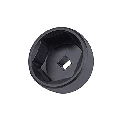 27mm 6-Point Socket, Low Profile Oil Filter Wrench,3/8