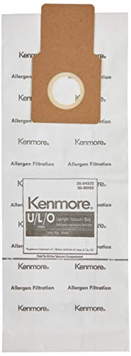 Kenmore 50105 8 Pack Upright Vacuum Bags For U/L/O Style Vacuums (Arm Hammer Vacuum Bags Kenmore)