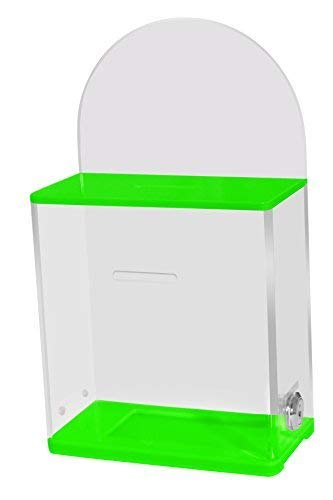 My Charity Boxes - High Quality Locked Donation Box with Back Wall Clear  Display Area - For Fundraising Donation Box - Ticket Box - Collection Box -