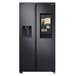 Samsung 657 L with Inverter Side-by-Side Refrigerator (RS74T5F01B4/TL, Matt Black)