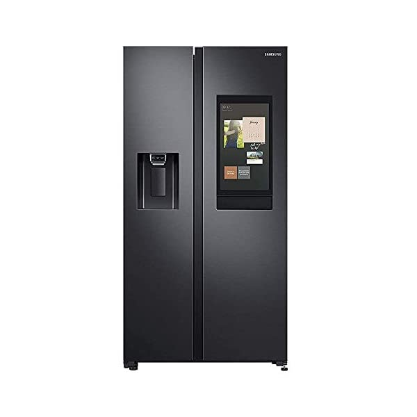 Samsung 657 L with Inverter Side-by-Side Refrigerator (RS74T5F01B4/TL, Matt Black) 2021 July Frost-free side-by-side refrigerator; 657 litres capacity Warranty: 1 year on product, 10 years on compressor Frost free refrigerator: auto defrost function to prevent ice build up
