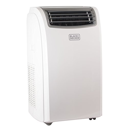 BLACK + DECKER 14000 BTU Portable Air Conditioner Unit + 11000 BTU Heater, Remote, LED Display, Window Vent Kit, 4 Caster Wheels, White