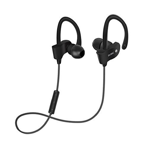Price comparison product image GBSELL Wireless Bluetooth 4.1 In-Ear Stereo Headphones Waterproof Sports Headphones For iPhone Samsung LG IPAD (Black)