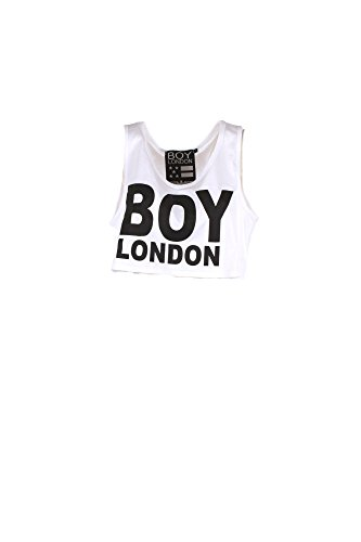 BOY Estate S LONDON Bl1037 Donna Primavera Bianco 2018 Canotta r1qr0wn7R
