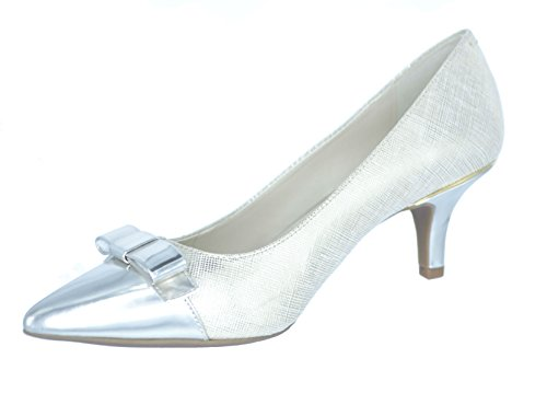 Anne Klein AK Sport Women's Flouncy Dress Pump (10, Silver) (Ak Anne Klein Sport Womens Guardian Dress Pump)