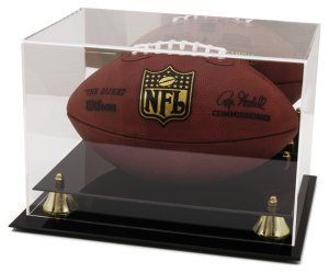 Football Deluxe Display Case Mirror Back (Autograph Football Case)