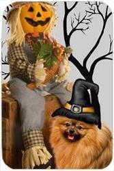 Amazon Com Pomeranian Tempered Cutting Board Halloween