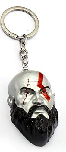 Amazon.com: Mct12 - God of War 4 Kratos Keychains Cratos ...