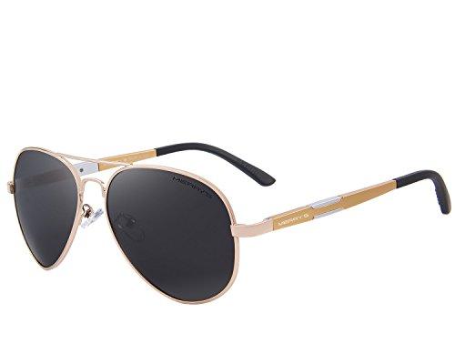 conducción Gafas gafas aluminio Merry sol sol magnesio s8285 de de HD de polarizadas Dorado Hombre De qB4UAv