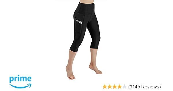 bedc55cc4776c9 Amazon.com: ODODOS High Waist Out Pocket Yoga Capris Tummy Control Workout  Running 4 Way Stretch Yoga Pants,Leggings: Clothing