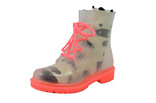 Jelly Jolly London Boots and Sock Bundle Pink Sole - Transparent Boots - Pink Transparent Boots