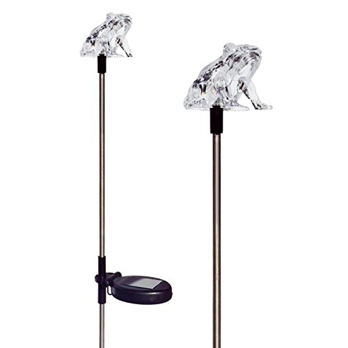 Tricod E2179 Frog Solar Powered Garden Yard Stake Light, Medium, 2-Piece