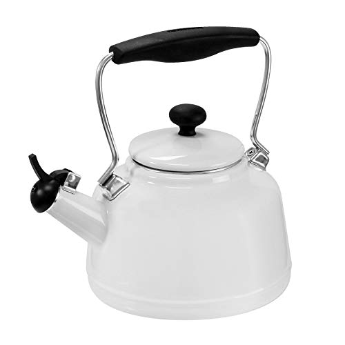 Chantal 37-VINT WT Enamel on Steel Vintage Teakettle, 1.7 quart, ()