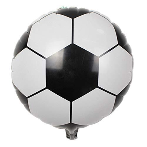 1Pc 4 Style 18Inch Football Balloon Helium Balloons Birthday Baby Shower Children'S Day Bar Ktv Decoration Sport Party Supplies Black 18Inch]()